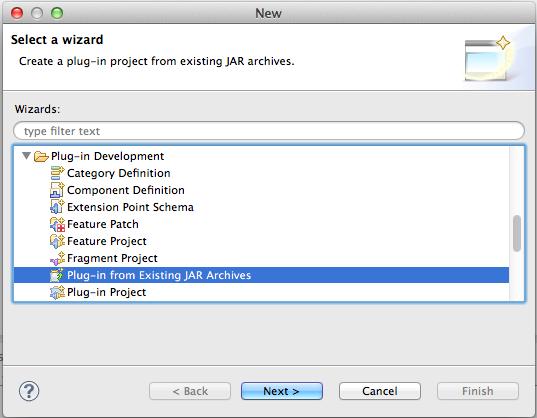 Creating Eclipse Plugins From Existing Java Frameworks
